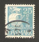 Sellos del Mundo : Europa : Dinamarca : barco de vela