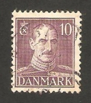 Stamps : Europe : Denmark :  rey christian X