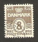 Stamps : Europe : Denmark :  cifra