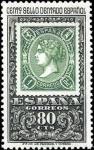 Stamps Spain -  Centenario del primer sello dentado