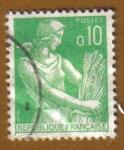 Sellos de Europa - Francia -  MUJER DE GRANJA