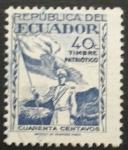 Sellos de America - Ecuador -  timbre patriotico
