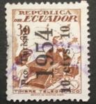 Sellos de America - Ecuador -  timbre telegrafico pro turismo