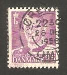 Sellos de Europa - Dinamarca -  rey frederic IX
