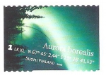 Stamps : Europe : Finland :  aurora boreal