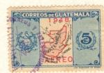 Stamps Guatemala -  Mapa de Guatemla 1948