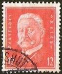Stamps Europe - Germany -  DEUTSCHES REICH - PAUL VON HINDERBURG