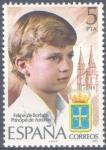 Stamps Spain -  ESPAÑA 1977_2449 Homenaje a S.A.R. don Felipe de Borbón, Príncipe de Asturias. Scott 2076