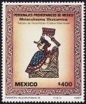 sellos de America - México -  PERSONAJES PREHISPANICOS DE MEXICO