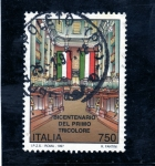 Stamps : Europe : Italy :  Bicentenario Del Primo Tricolore