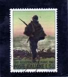 Stamps : Europe : Italy :  50° Anniversario della Resistenza Sul Piave