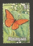 Sellos del Mundo : Asia : Malasia : mariposa appias nero figulina