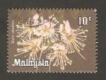 Sellos del Mundo : Asia : Malasia : flor durio zibethinus