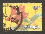 Stamps : Asia : Malaysia :  flor hibiscus rosa sinensis