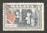 Stamps Asia - Malaysia -  Malaya - recolecta de caucho