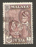 Sellos del Mundo : Asia : Malasia : perak - sultán youssouf izzddin shah y tigre