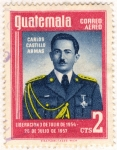 Stamps : America : Guatemala :  Carlos Castillo Armas