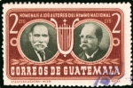Stamps Guatemala -  Homenaje a los Autores del Hino Nacional