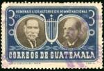 Sellos de America - Guatemala -  Homenaje a los Autores del Hino Nacional