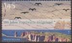 Stamps Germany -  Alemania 2010 Sello Paisaje Aniv. Vogelwarte Helgoland usado Allemagne Duitsland Germania Germany