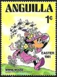 Sellos de America - Anguila -  ANGUILLA 1981 Scott 434 Sello ** Walt Disney Easter Minnie Mouse 1c