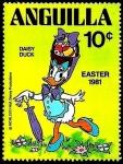 Sellos del Mundo : America : Anguila : ANGUILLA 1981 Scott 440 Sello ** Walt Disney Easter Daisy Duck 10c