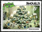 Sellos del Mundo : America : Anguila : ANGUILLA 1981 Scott 456 Sello ** Walt Disney La noche de Navidad Arbol de Navidad y Juguetes 5c