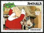 Sellos de America - Anguila -  ANGUILLA 1981 Scott 458 Sello ** Walt Disney La noche de Navidad Papa Noel y Regalos 10c
