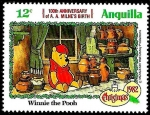 Sellos del Mundo : America : Anguila : ANGUILLA 1982 Scott 517 Sello ** Walt Disney Navidad Winnie de Pooh 12c