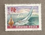 Stamps Hungary -  Lago Balatón