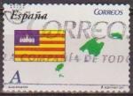 Sellos de Europa - España -  ESPAÑA 2011 4616 Sello Banderas y Mapas Autonomias Islas Baleares usado Espana Spain Espagne Spagna
