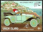 Stamps Saint Vincent and the Grenadines -  UNION ISLAND (St.Vincent) 1989 Scott 244 Sello ** Walt Disney Coches Antiguos Mickey, Minnie y Daisy