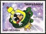 Stamps Africa - Sierra Leone -  SIERRA LEONE 1983 Scott 601 Sello ** Walt Disney Mickey Mouse Fantasia Espacial Ark Mickey Mouse 1c