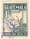 Sellos de America - Guatemala -  2000 Km de Carretera