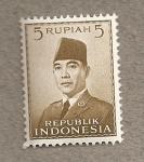Sellos de Asia - Indonesia -  Presidente Indonesia