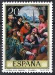 Stamps Spain -  2540 Juan de Juanes. San Esteban en la Sinagoga.