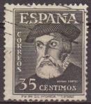 Sellos del Mundo : Europa : España : ESPAÑA 1948 1035 Sello Personajes Hernan Cortes Usado Espana Spain Espagne Spagna Spanje Spanien