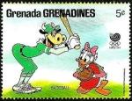 Sellos del Mundo : America : Granada : Grenada Grenadines 1988 Scott 943 Sello ** Walt Disney Juegos Olimpicos Corea Seul Clarabella Daisy