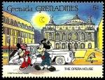 Sellos de America - Granada -  Grenada Grenadines 1989 Scott 1061 Sello ** Walt Disney Opera House Paris Mickey y Minnie 5c