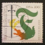 Stamps Germany -  further drachenstich