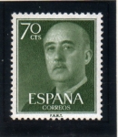 Stamps Spain -  1955-56 General Franco Edifil 1151