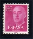 Stamps Spain -  1955-56 General Franco Edifil 1154