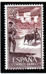 Stamps Spain -  1960 Tauromaquia: Toros en el pueblo Edifil 1266