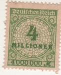 Stamps : Europe : Germany :  NUMEROS / CIFRAS