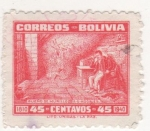 Stamps : America : Bolivia :  SUEÑO DE MURILLO