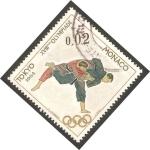Sellos del Mundo : Europa : Mónaco : Olimpiadas de Tokio 1964, judo