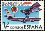 Sellos de Europa - España -  L aniversario de la fundación de la compañía aérea Iberia