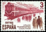 Stamps Spain -  Transporte colectivo