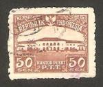 Stamps : Asia : Indonesia :  oficina central de correos en bandoeng