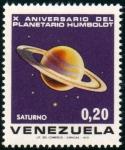 Stamps Venezuela -  1973  X Aniv. Planetario Humboldt: Saturno